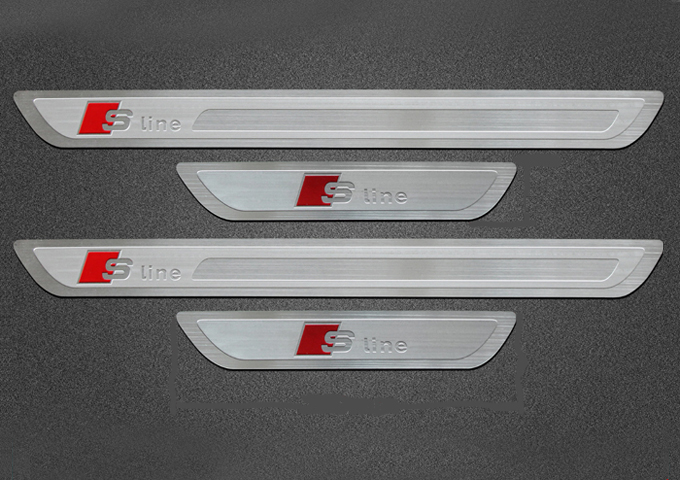 Audi s line porte sill kick plaques a1 a3 a4 a5 a6 a7 a8 for Sill plate definition